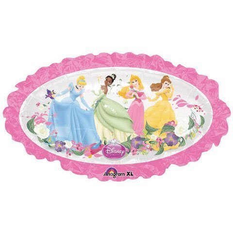 "Disney Princesses Oval Shaped Pink 31"" Balloon Mylar - 1"