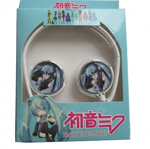 Animekingdom-3.5Mm Vocaloid Miku Hatsune Computer Headphones Mp3, Mp4 Music Earphone