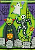 Monster Mash Halloween Garden Flag