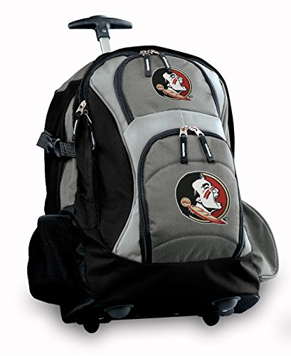 Fsu Rolling Backpack Deluxe Gray Florida State University Best Backpacks Bags W