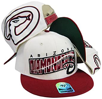 Arizona Diamondbacks Cream Maroon Adjustable Snapback Hat Cap by