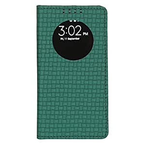 Dsas Artificial Leather Flip cover with screen Display Cut Outs designed for Microsoft Lumia 435
