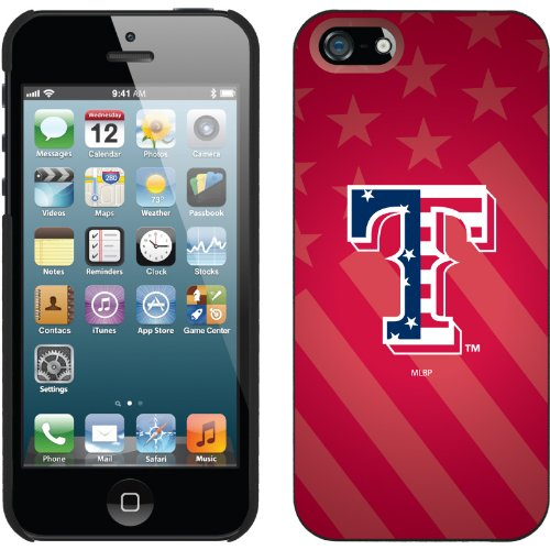 Great Sale Texas Rangers - USA Red design on a Black iPhone 5 Thinshield Snap-On Case by Coveroo