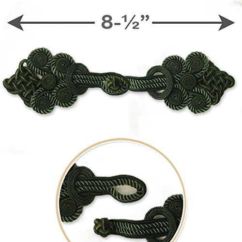 1-set-green-vintage-fabric-frogs-closure-button-8-1-2-long-cbtn-1018