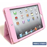 iPad miniキルティング PUレザー スタンド ケース 《全9色》ピンク/さくら色 [MOBILE STUDIO]