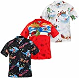 New Mens True Face Christmas Print Hawaiian Shirt Fancy Stag Hen Party Costume