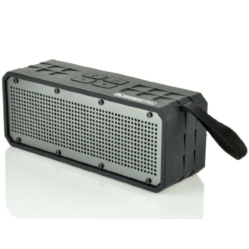Ruggedtec Roqbloq Portable Bluetooth Speaker Outdoor Rugged Water Resistant Dust & Shock Proof (Black/Black)