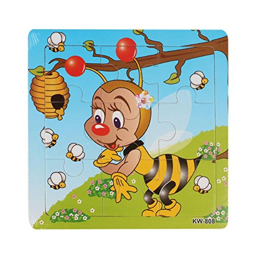 LandFox Toy,Bee Wooden Kids Children Jigsaw Education And Learning Puzzles Toys