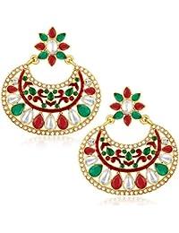 Sukkhi Exquisite Gold Plated Australian Diamond Dangle & Drop Earrings For Women