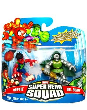 Super Hero Squad Marvel Superhero Squad Series 17 Mini 3 Inch Figure 2Pack Reptile & Dr. Doom at Sears.com