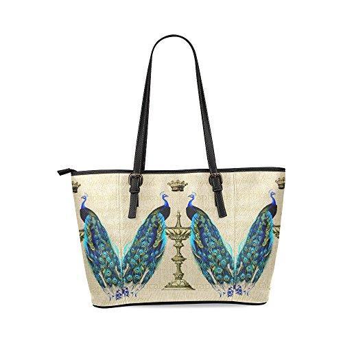 peacock-and-crown-custom-pu-leather-large-tote-bag-handbag-shoulder-bag-for-fashion-women-girls