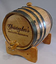 Custom Engraved 1 Liter Oak Barrels for Aging Whiskey, Rum, Tequila, Bourbon, Scotch and Wine (1 Liter)