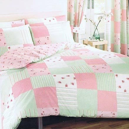 Patchwork Pink King Size Bed Duvet / Quilt Cover