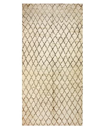 nuLOOM One-of-a-Kind Hand-Knotted Fowler Berber Shag Rug, Natural, 5' 11 x 12' 2 Runner As You See