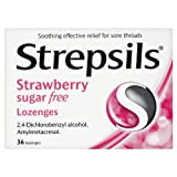 Strepsils Sugar-Free Lozenges Strawberry