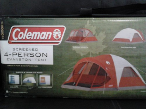 Coleman 4-Person Evanston Tent with Screened Porch Canopy 9 Ft x 7 Ft Fits & Reviews Coleman 4-Person Evanston Tent with Screened Porch Canopy ...