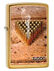 Zippo Bullets Windproof Pocket Lighter - Brushed Brass