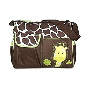 Mochilas de Bebé Bolsa De Pañales Cambiar Pañal Bolso Multifunctional para madre -Patrón Giraffe naranja de Genérico