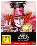 DVD & Blu-ray - Alice im Wunderland: Hinter den Spiegeln (3D+2D) Steelbook [3D Blu-ray] [Limited Edition]