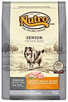 NUTRO Senior Chicken, Whole Brown Rice and Oatmeal Dog Food, 30 lbs.