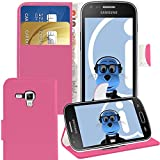 ITALKonline Samsung S7582 Galaxy S Duos 2 Pink PU Leather Executive Multi-Function Wallet Case Cover Organiser Flip with Credit / Business Card Money Holder Integrated Horizontal Viewing Stand