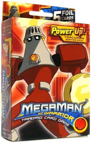 Mega Man NT Warrior Trading Card Game Power Up! Starter Deck Torch Villain - 1