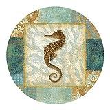 Aqua Seahorse Drink Coasters - Style TSEQ1