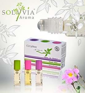 Solyvia - 10-1_BOX_CITYBO - City Box - La Box Citadine Dédiée au Bien-Etre - Roll-On d'Huiles Essentielles Bio - 3 x 5 ml