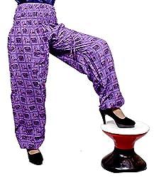 Cotton Elephant Genie Harem Pants Boho Gypsy Trousers Free Size (Purple)