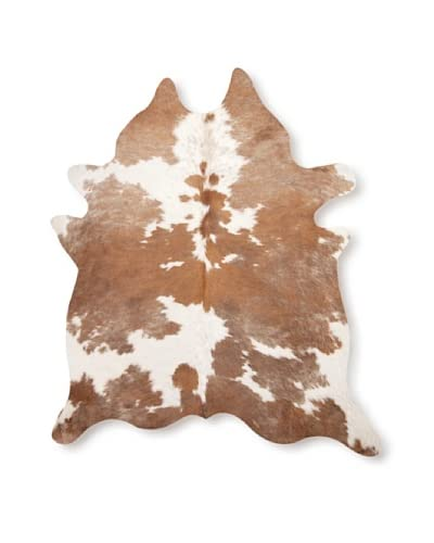Natural Brand Kobe Cowhide Rug, Brown/White, 7' x 5.5'