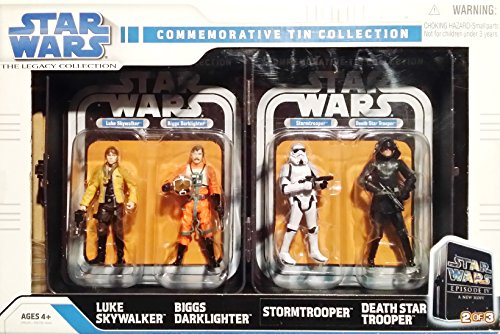 Star Wars, The Legacy Collection, Commerative Tin Collection Action Figures, #2/3, 4-Pack, 3.75 Inches