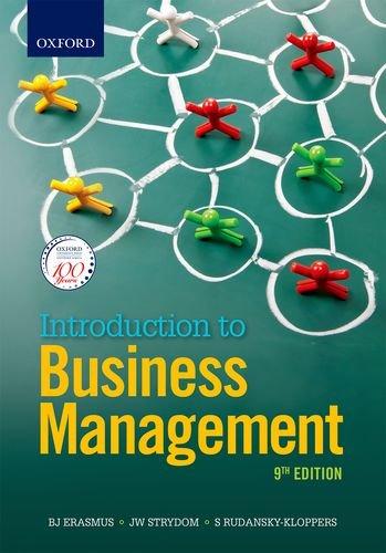Introduction to Business Management, by S Rudansky-Kloppers, B Erasmus, J Strydom, JA Badenhorst-Weiss, T Brevis-Landsberg, MC Cant, LP Kr
