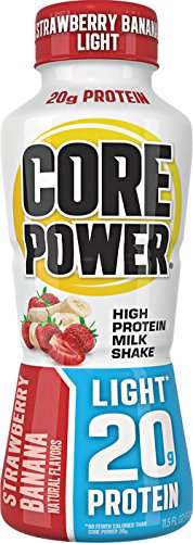 Core Power High Protein Milk Shake, Strawberry Banana Light, 20g of protein, 11.5-ounce bottles (pack of 12)