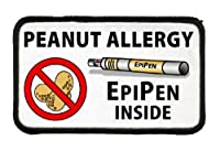 PEANUT ALLERGY Medical Alert 3 X 5 inch Sew-on Patch by Creative Clam