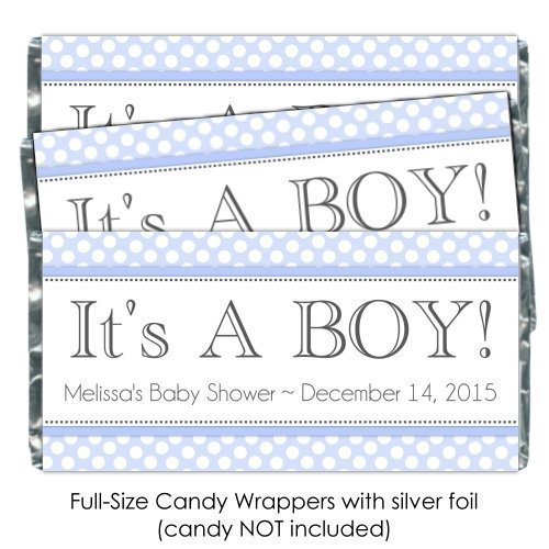 boy baby shower candy bar wrappers baby shower mania