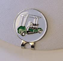 Vintage Golf Cart Ball Marker w/Magnetic Hat Clip
