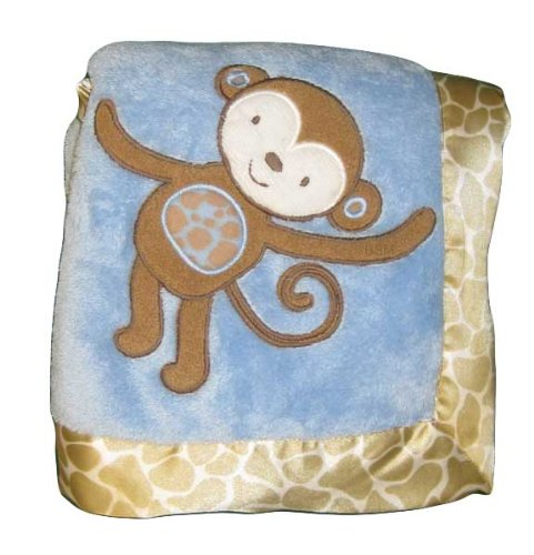 1 X Bananafish Mosaic Jungle Plush Blanket - 1