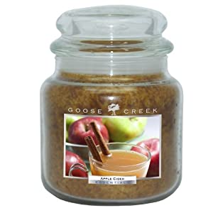 Goose Creek 16-Ounce Apple Cider Essential Jar Candle with Glass Lid