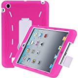 i-Blason ArmorBox Series 2 Layer Hybrid Protection Case For Apple New iPad Mini 7.9 Inch with Kick Stand Kids Friendly (Pink/White)