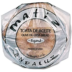 Amazon.com: Traditional sugared spanish crisp bread. Torta de Aceite