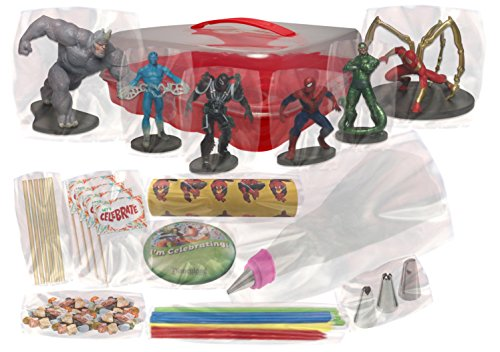 Marvel s Ultimate Spiderman Deluxe Cake / Cupcake Topper Decorating Kit Food, Beverages Tobacco ...