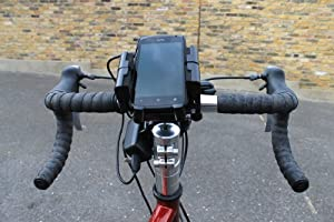 Pedal Juice - BICYCLE MOUNTED PHONE CHARGER - iPhone & Android Compatible - Secure Handlebar Phone Holder