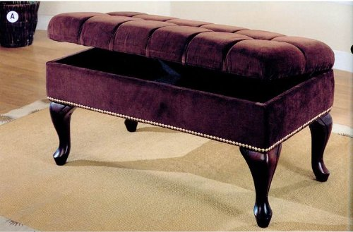 Storage Bench with Tufted Buttons