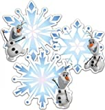 Eureka Licensed Disney Frozen Olaf Snowflake Assorted Cutouts Pack of 36 (841341)