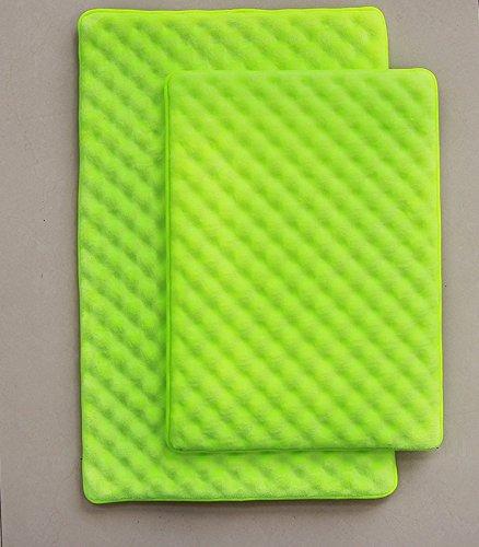 2 Piece High Quality Super Soft Microfiber Memory Foam Bath Rug Large 20