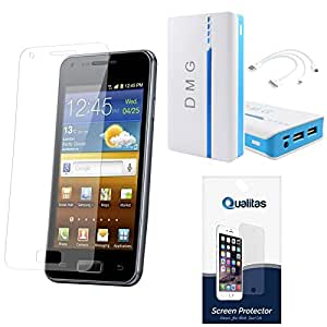 Qualitas Ultra Clear Anti-Glare Anti-Scratch Anti-Fingerprint Screen Protector for Micromax Canvas XL2 A109 + Qualitas 15000 mAh Portable Power Bank