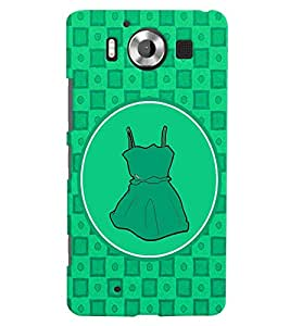 PRINTVISA Abstract Green Frock Case Cover for Nokia Lumia 950::Microsoft Lumia 950