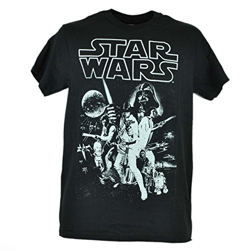 Star Wars Movie Graphic Cast Tee Tshirt Darth Vader Classic Black Adult