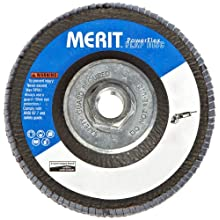 "Merit Flap Disc, Type 29, , 5/8""-11 Arbor, Zirconia Alumina, 4-1/2"" Diameter, Grit 80  (Pack of 10)"