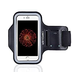 DBPOWER Phone Armband Adjustable Sweat proof Sport Armband Case with Key Holder Slot for iPhone 6/Galaxy S3/S4/S5